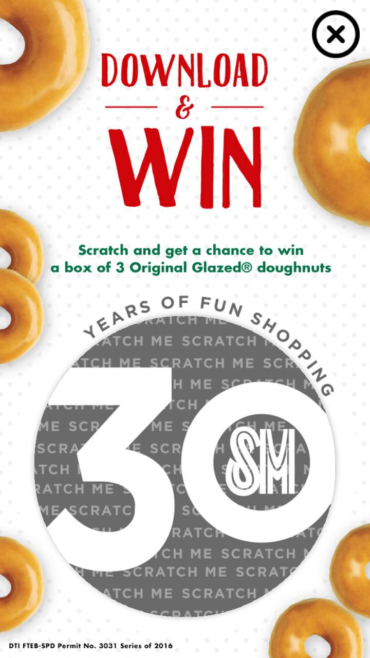 Krispy Kreme SM Supermalls Mobile App