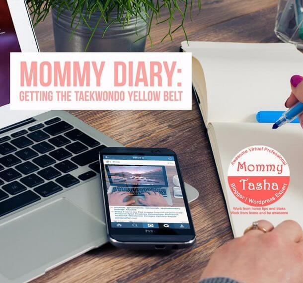 mommy diary taekwondo yellow belt