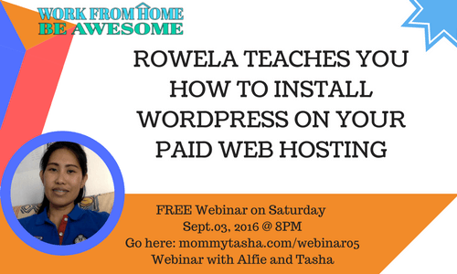 Install WordPress on Paid Web Hosting Rowela Rabi